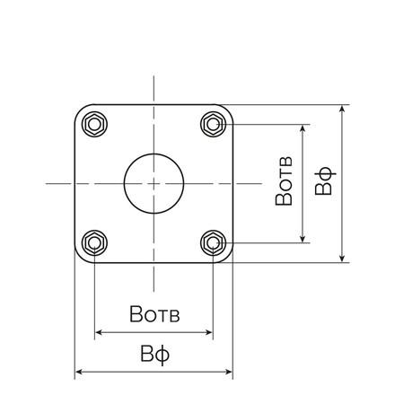 Анкерні вузли для встановлення опор ФМ, ФМ1, ФМ2